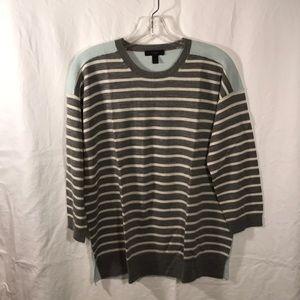 JCrew Merino Colorblock Stripe Sweater